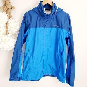 🌬Marmot Mens PreCip Blue Jacket Medium Like New👌